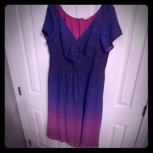 eShatki Short Sleeve Starry Design Dress